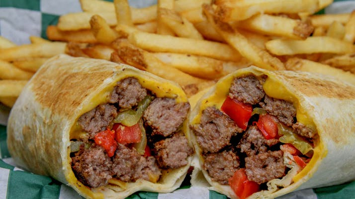 Angus Cheeseburger Wrap