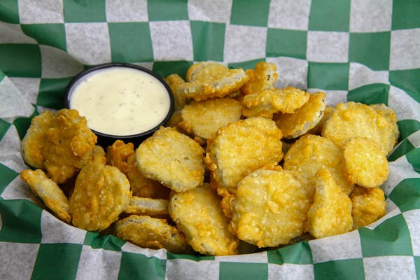 Hand-Breaded Pickle Chips