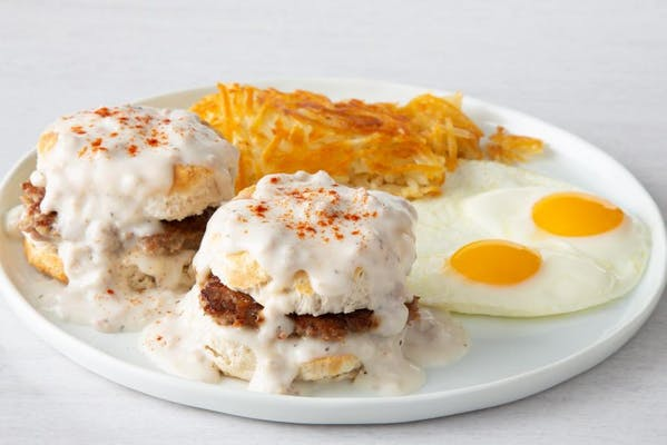 Biscuits & Gravy with Eggs