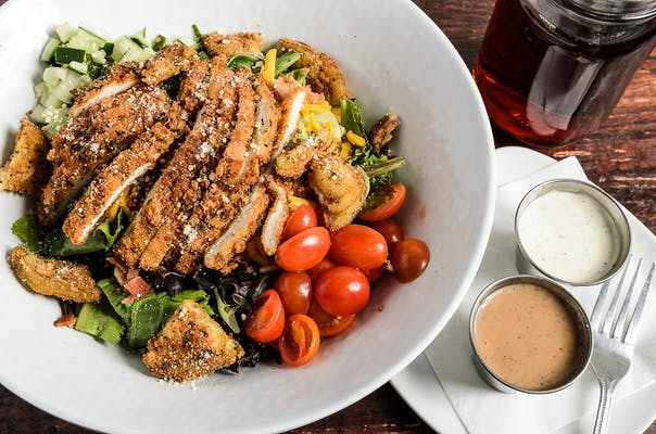 Parmigiana Crusted Salad
