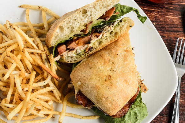 Grilled Chicken Focaccia Sandwich