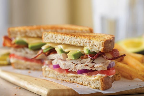 Turkey Bacon Avocado Melt Sandwich
