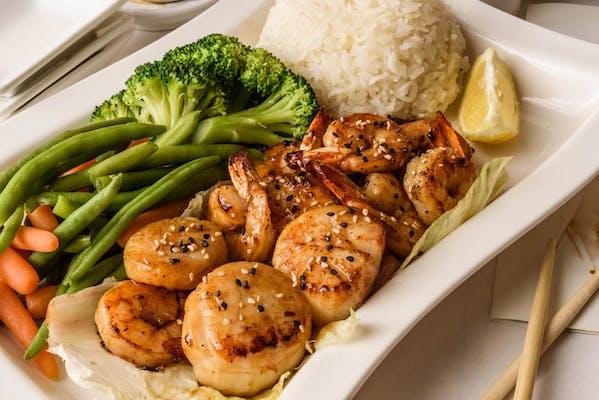 Shrimp & Scallops Teriyaki
