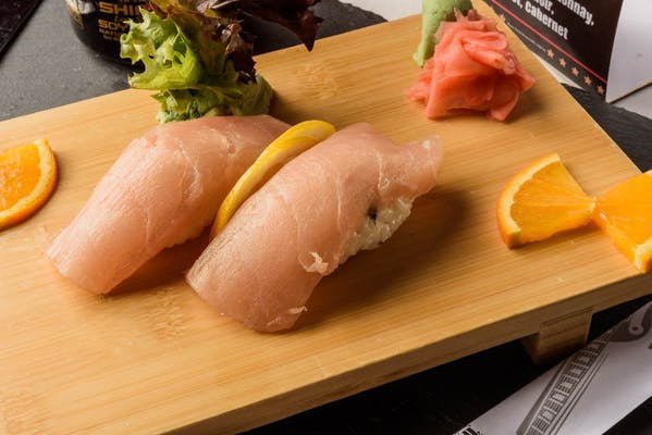 White Tuna Nigiri (with rice)