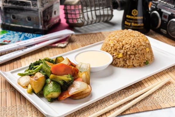 Vegetables & Fried Rice Hibachi