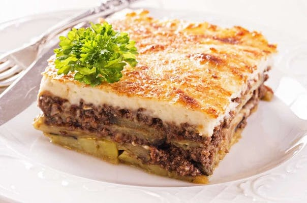 Meat  Moussaka Plate