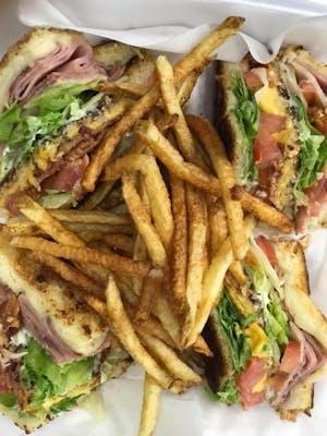 Club Sandwich Platter & Fries