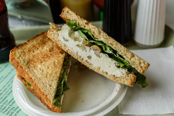 Cream Cheese & Olive Sandwich