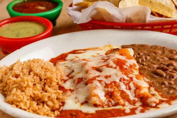 Enchiladas Rojas o Verdes