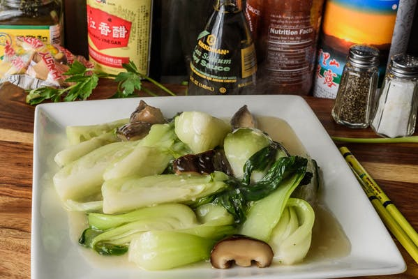 V2. Bok Choy with Black Mushrooms