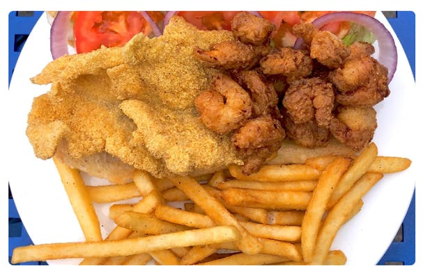 Half & Half Po-Boy & Fries