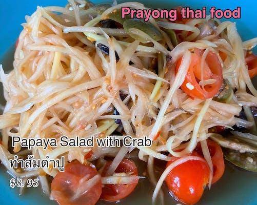 #20. Papaya Salad with Crab