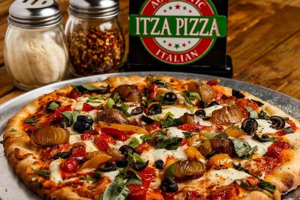 Mediterranean Roasted Vegetable Pizza