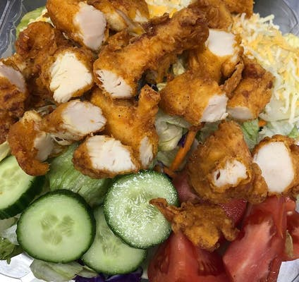Fried Chicken Tender Salad