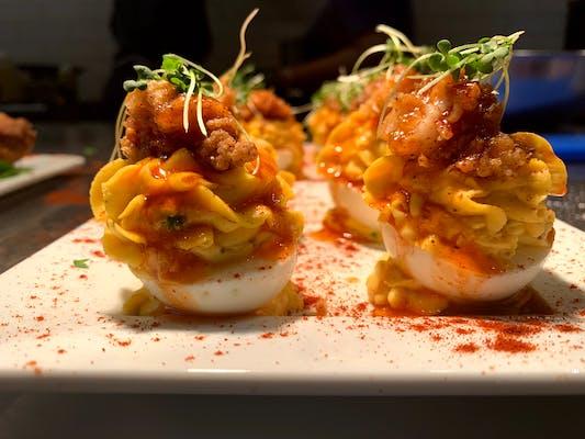 Fried Lobster & Deviled Eggs Plate