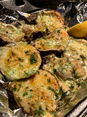 Spinach & Cheese Oysters