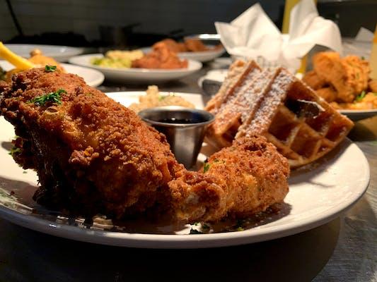 Chicken Wings & Waffles Plate