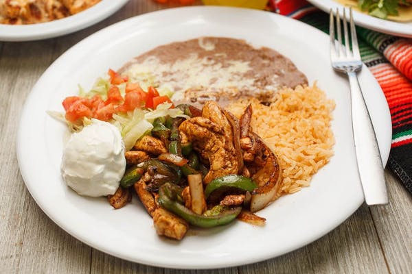 8. Chicken Fajita Plate
