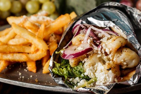 Shrimp Pita