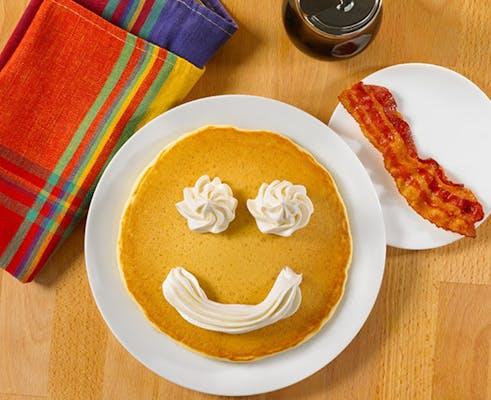 Kid's Buttermilk Pancake or Golden Waffle Plate
