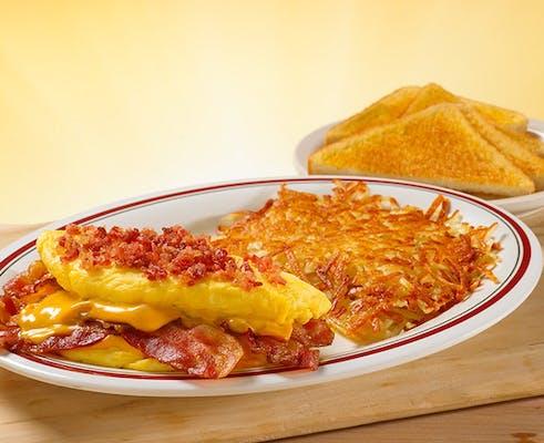 Omelet-Mega Bacon Cheese
