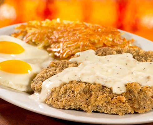2 Eggs & Country Fried Steak