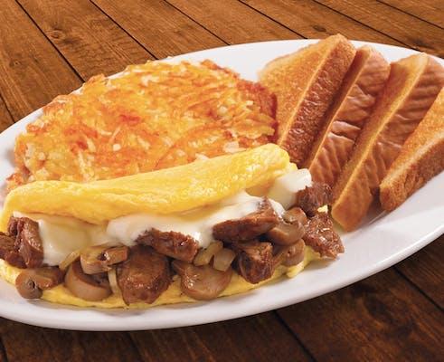 Omelet- Prime Rib Tips
