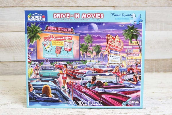 Family Night Drive In Movie Puzzle