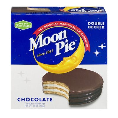 MoonPie Double Decker, Chocolate, 2.75 oz, 12 Count Pack