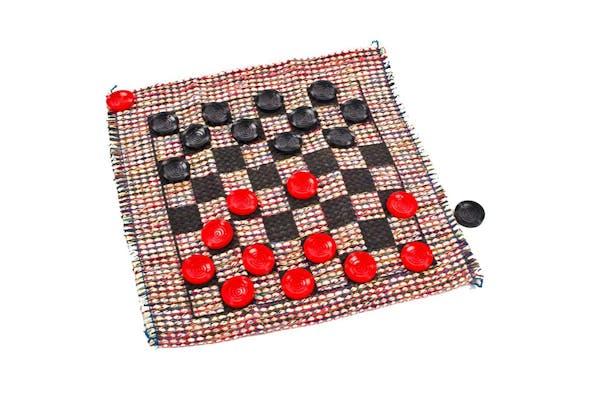Cracker Barrel Mini Travel Checker Rug