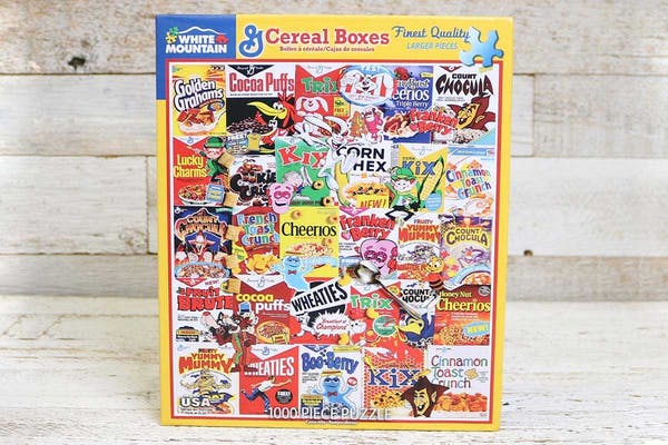 Family Night Cereal Boxes Puzzle