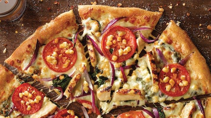 Grilled Chicken Florentine Pizza