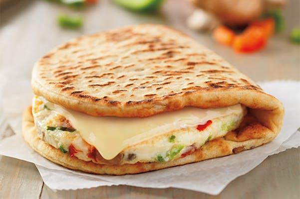 Veggie Egg White Omelet Sandwich