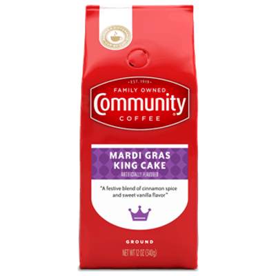 Community Coffee - Mardi Gras King Cake - Ground - (12 oz)