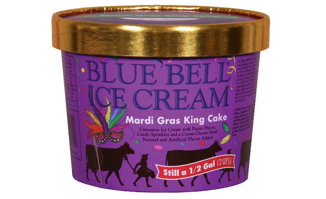 Blue Bell Ice Cream - King Cake - (1/2 Gallon)