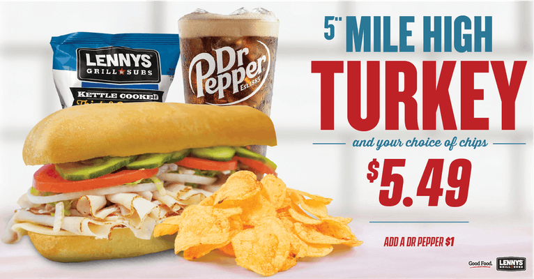 "Mile High Turkey 5"" Sub with Chips"