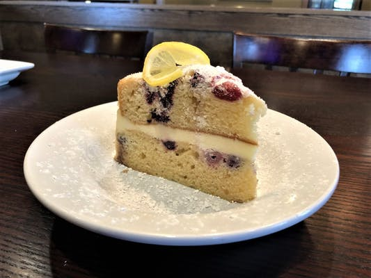 Creamy Mascarpone Lemon Berry Cake