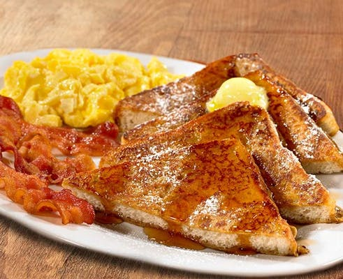 French Toast Platters with Bacon or Sausage