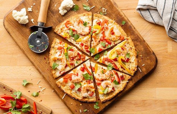 Spicy Shrimp Pizza