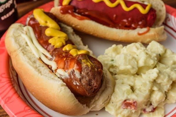 Beef Sausage Hot Dog