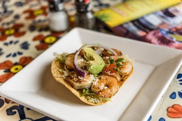 Side Shrimp Tostada