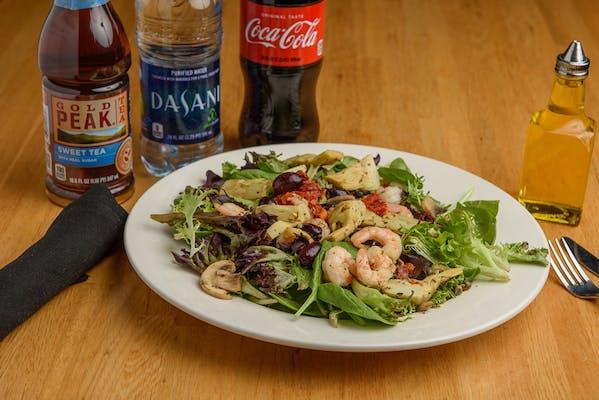 Shrimp Mediterranean Salad Coca-Cola Combo