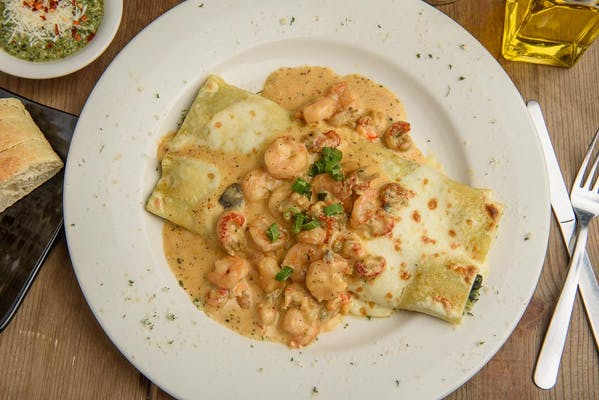 Seafood Manicotti