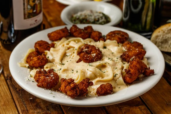 Panneed Fried Shrimp Alfredo (Lunch)