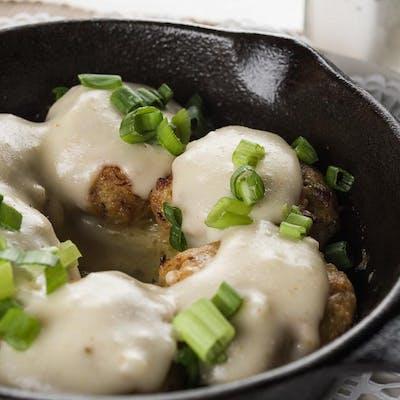 Seafood Stuffed Mushrooms