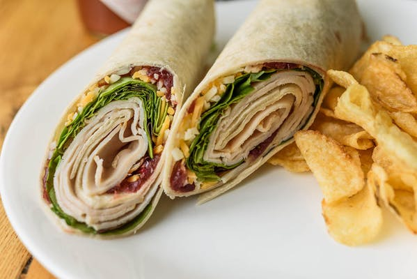 Smoked Turkey & Cranberry Rollup