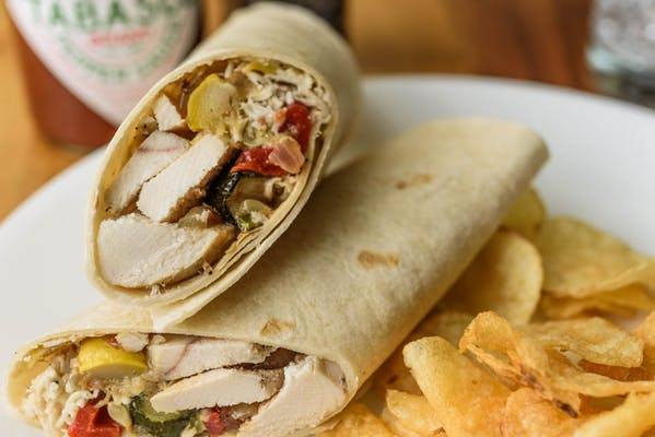 Grilled Chicken & Vegetable Rollup