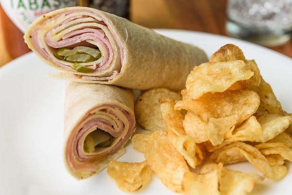 Ham & Swiss with Honey Mustard Rollup