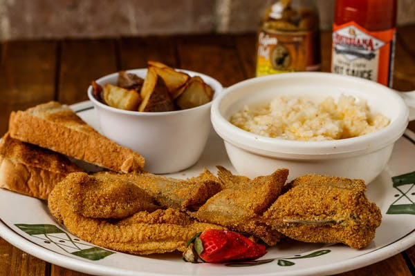 Fried Catfish & Grits
