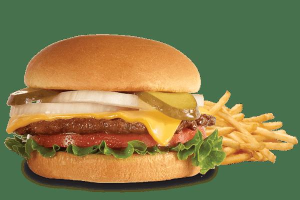 Single 'n Cheese Steakburger 'n Fries